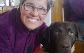 Claudia con il suo cane guida