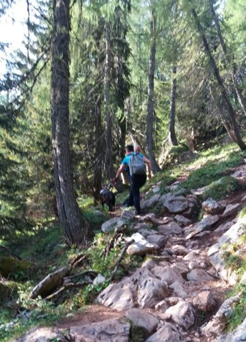 Fiona e Claudia in montagna
