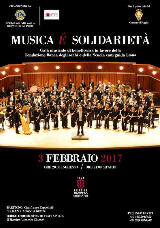 Locandina Musica è solidarietà