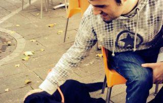 Manuele e Tato, cane guida dei Lions