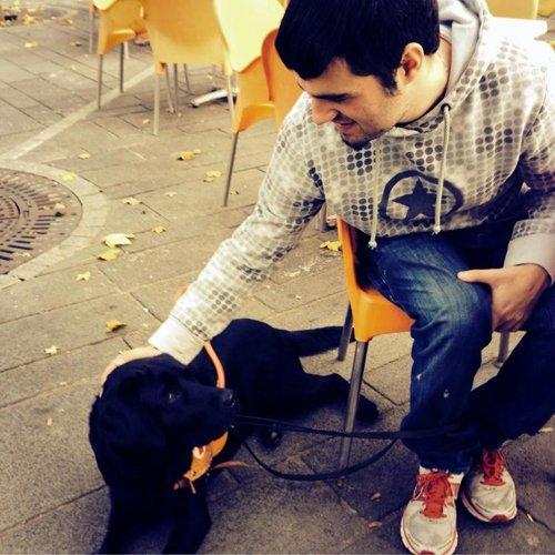 Manuele e Tato il suo cane guida