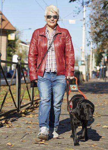 Laura e Max, il suo cane guida