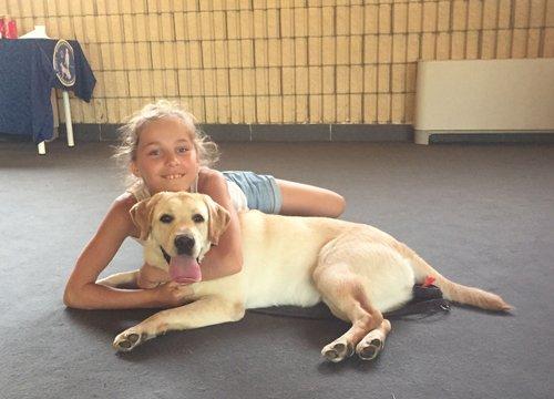 Silvia e Dana futuro cane guida