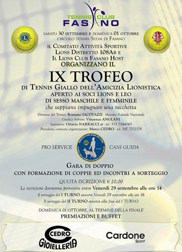 Locandina Trofeo Tennis 2017