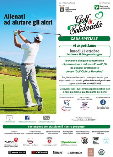 Locandina Golf e Solidarietà