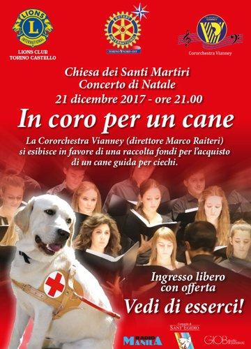Locandina per evento in coro per un cane