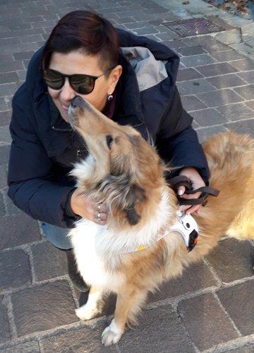 Martina e il suo cane guida Lea