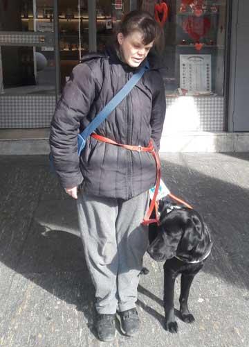 Elena e Shadow, cane guida