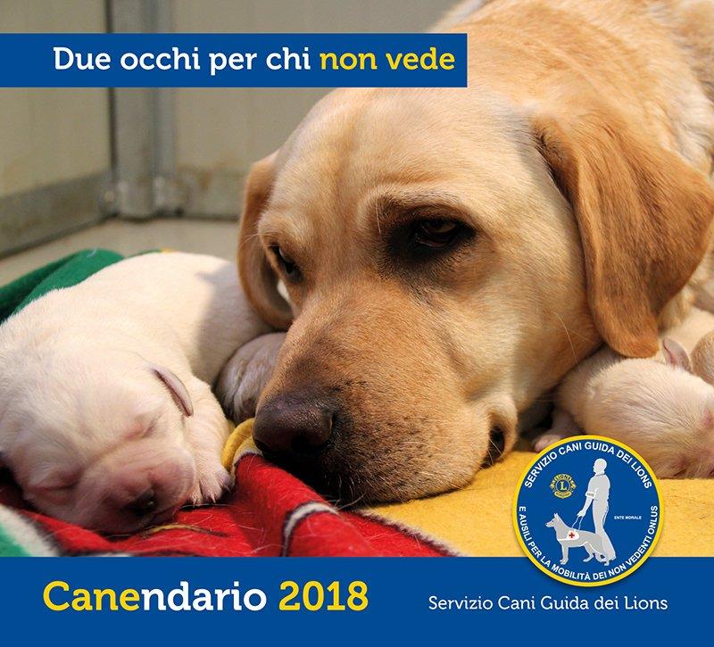 Calendario 2018 Servizio Cani Guida dei Lions