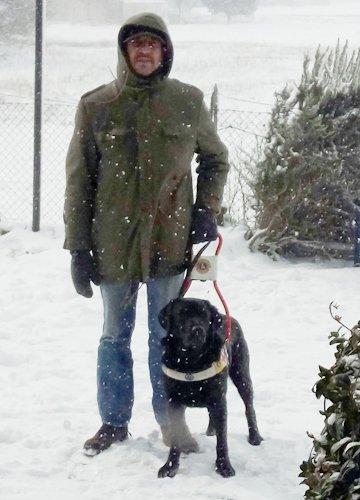 Marco e Reddy il suo cane guida