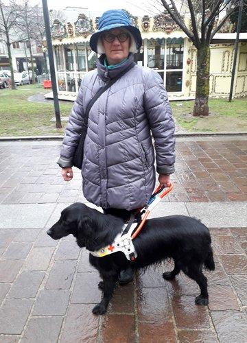 Romilda e il suo cane guida Quita
