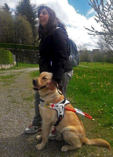 Annalisa e il suo cane guida Taboo