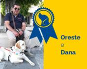 Oreste e Dana, cane guida