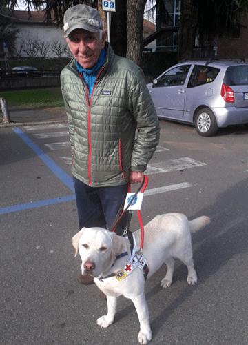 Paolo e Choco cane guida