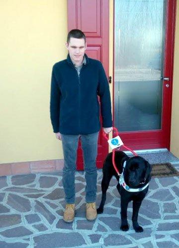 Consegna cane guida Vincent