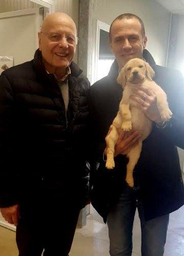 ll Dott. Massimiliano Romeo Capogruppo al Senato Lega Nord con il presidente Giovanni Fossati