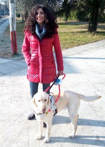 Nadia e Woody cane guida